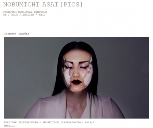 OMOTE/REAL-TIME FACE TRACKING & PROJECTION MAPPING
